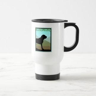 Craftsman Style Bloodhound Dog Travel Mug