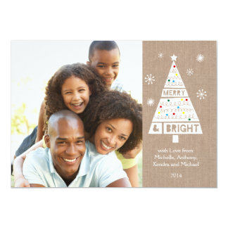 Crafty Burlap Holiday Photo Card