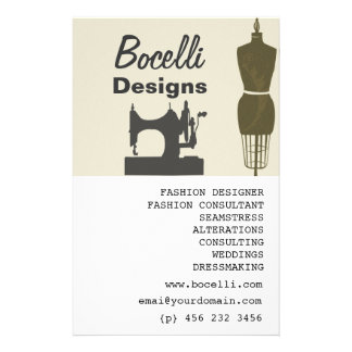 Crafty Ladies Seamstress Fashion Full Color Flyer