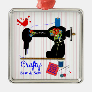 Crafty Sew And Sew Vintage Sewing Machine Christmas Ornament