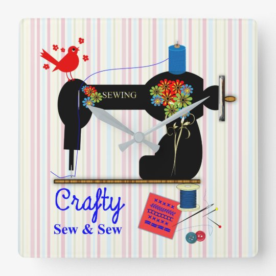Crafty Sew And Sew Vintage Sewing Machine Square