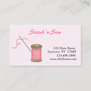 Needle and thread business cards business card printing zazzle uk crafty sewing business card colourmoves