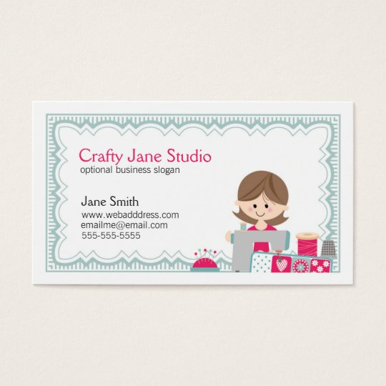 Crafty Sewing Business Card Design