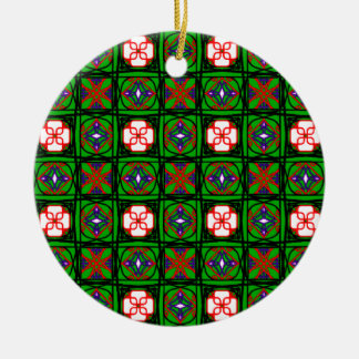 Crafty Textile Pattern on Christmas Ornament
