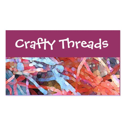 Crafty threads business cards