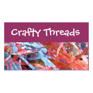 Crafty threads pack of standard business cards