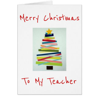 CRAFTY TREE FOR SPECIAL TEACHER AT CHRISTMAS CARD