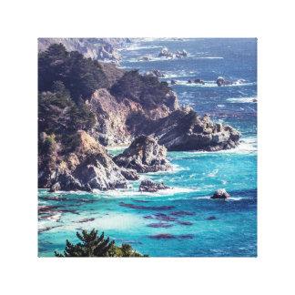 Craggy Coastline of the Sea Canvas Print