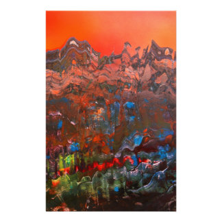 Craggy Mountain Sunset Stationery