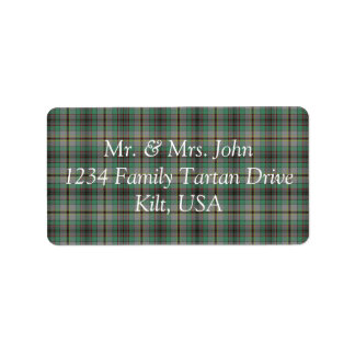 Craig Tartan Label Address Label