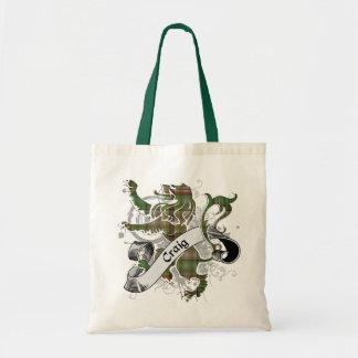 Craig Tartan Lion Canvas Bags