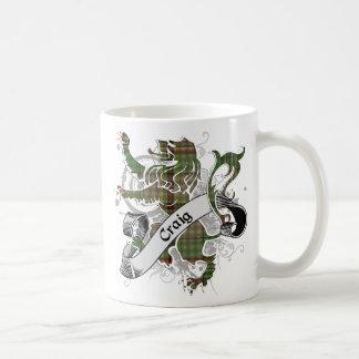 Craig Tartan Lion Basic White Mug