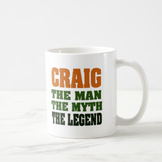 Craig - the Man, the Myth, the Legend Coffee Mug