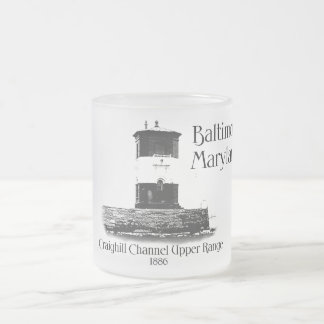 Craighill Channel Upper Range - Lighthouse Frosted Glass Mug