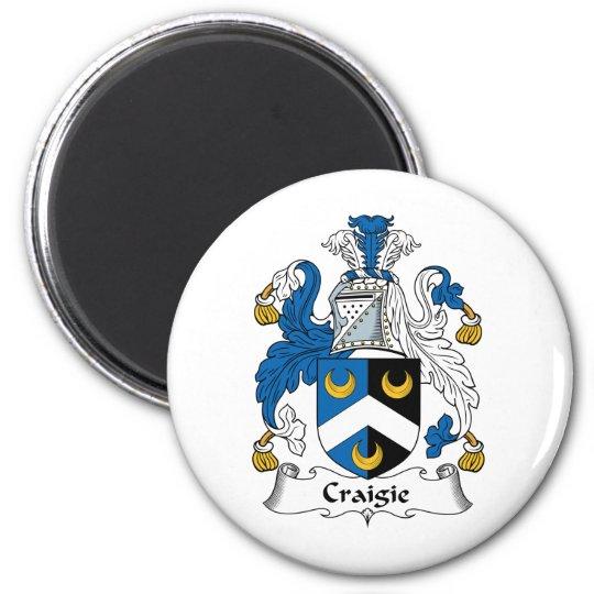 Craigie Family Crest 6 Cm Round Magnet