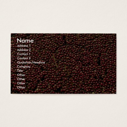 Cranberries at harvest, Plymouth, Massachusettes, Business Card