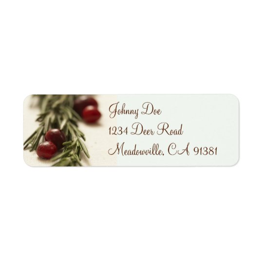 Cranberries & Rosemary Avery Label