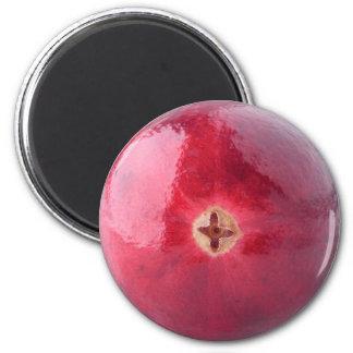 Cranberry 6 Cm Round Magnet