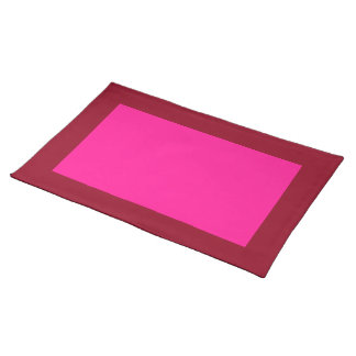 Cranberry and Deep Pink Placemat