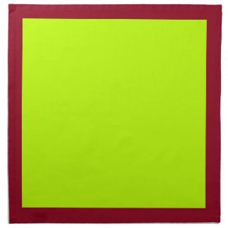 Cranberry and Lime-Colored Napkins
