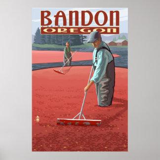 Cranberry Bogs Harvest - Bandon, Oregon Poster