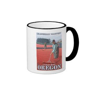 Cranberry Bogs Harvest - Coos Bay, Oregon Coffee Mug