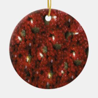 Cranberry Christmas Tree Ornament