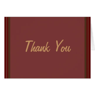Cranberry Class Elegant Thank You Greeting Card