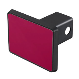 Cranberry colored tow hitch cover