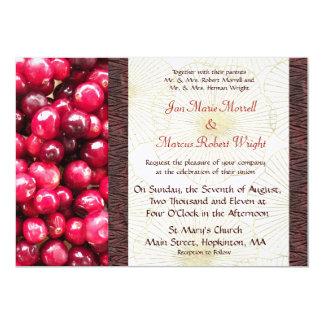 Cranberry Fall Wedding Invitation