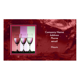 Cranberry Ice Beverages Business Card