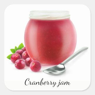Cranberry jelly square sticker