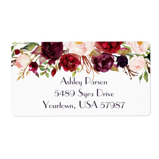 Cranberry Marsala   return address label