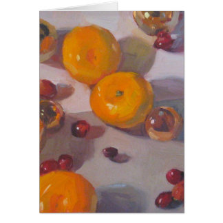 """Cranberry Orange Christmas"" - Holiday Art Card"