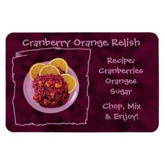 Cranberry Orange Relish Recipe Rectangular Photo Magnet