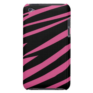 Cranberry Pink and Black Zebra Print Barely There iPod Covers