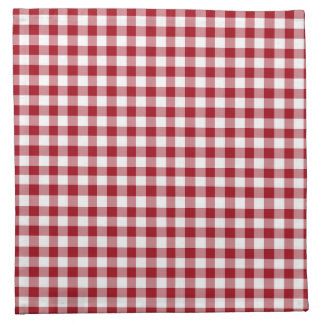 Cranberry Red and White Gingham Napkin