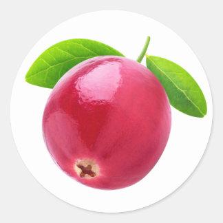 Cranberry Round Sticker