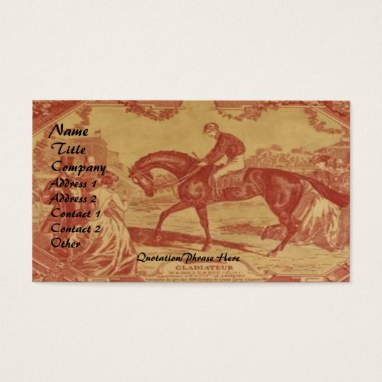 Cranberry Toile Business Card
