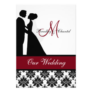Cranberry Wedding Couple Wedding Invitation