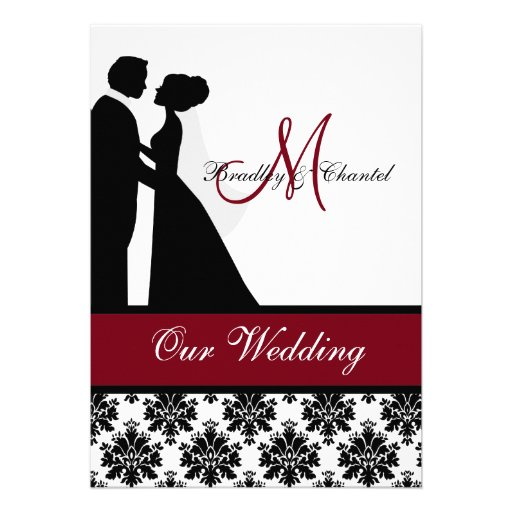 Cranberry Wedding Couple Wedding Invitation