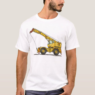 Crane All Terrain Hydraulic Construction Apparel T-Shirt