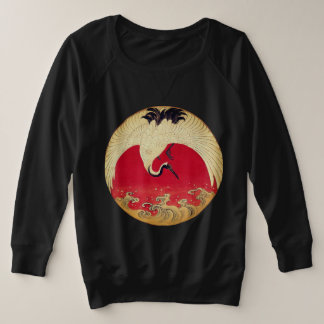 Crane and Waves Sweatshirt