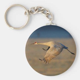 crane basic round button key ring