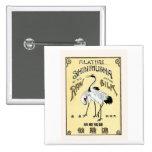 Crane Birds Vintage Japanese Silk Label Badge