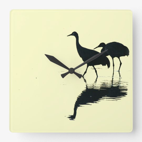 Crane Birds Wall Clock