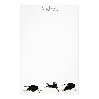 Crane Birds Wildlife Animals Stationery