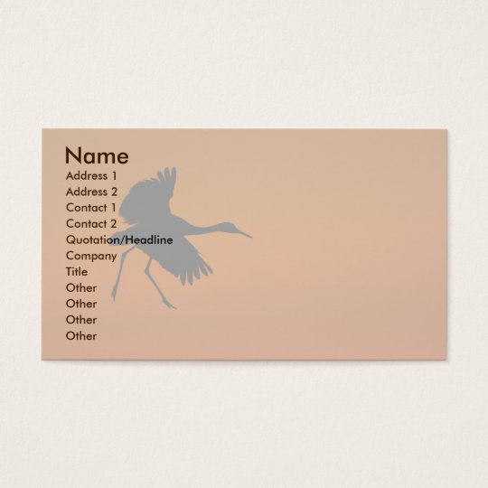 crane business card