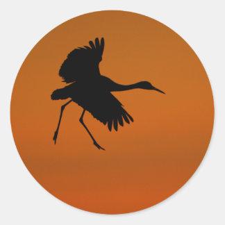 crane classic round sticker