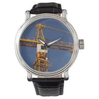Crane clock watch